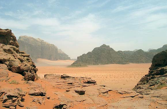 The stunning desertscape of Wadi Rum