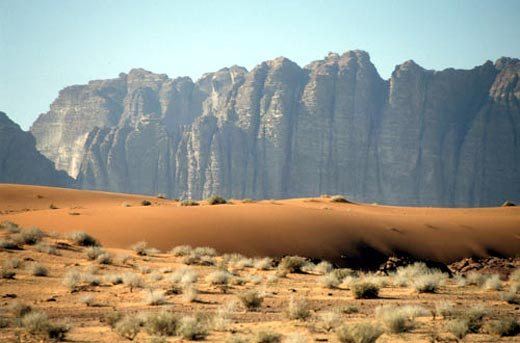 The Massive Mountains of Wadi Rum