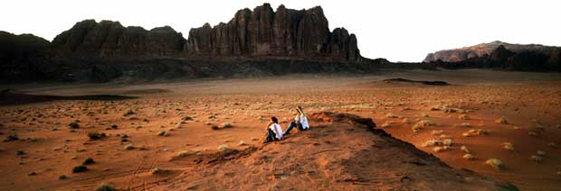 A view from Wadi Rum